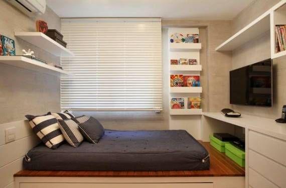 Móveis planejados para quarto de solteiro