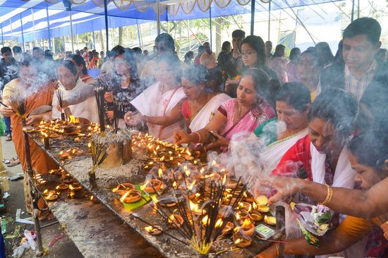 Devotees throng at Ganesh temple  on the occasion of Ganesh Puja.