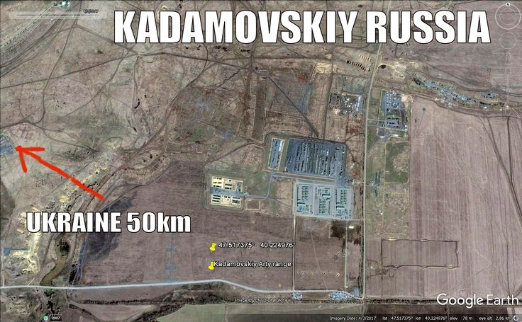 Massive Russian artillery range at Kadamovskiy, Rostov region. Used to train troops to Ukraine war.