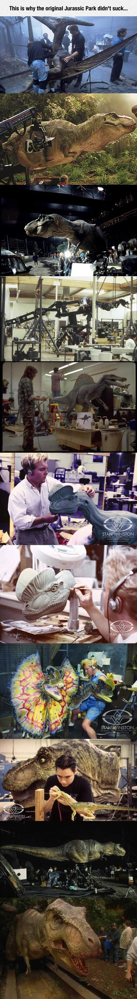 Dinosaurs Were More Real Back Then- because they actually took the time to create something by hand, not just cgi stuff