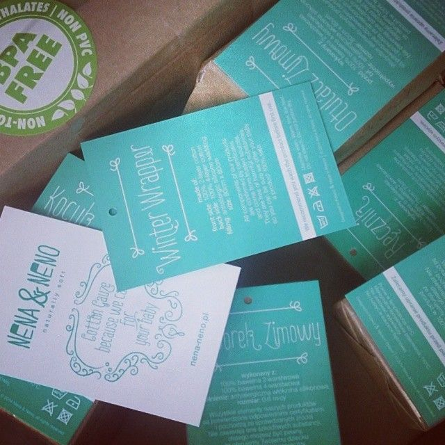 our beautiful printed labels ;)