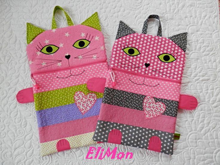 Pajamas bag for Kids .....Cats.