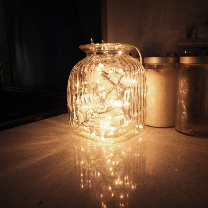 easy DIY - Fairy Lights in Jars via desire to inspire