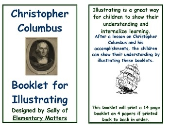 Who Was Christopher Columbus $  Booklet for illustrating