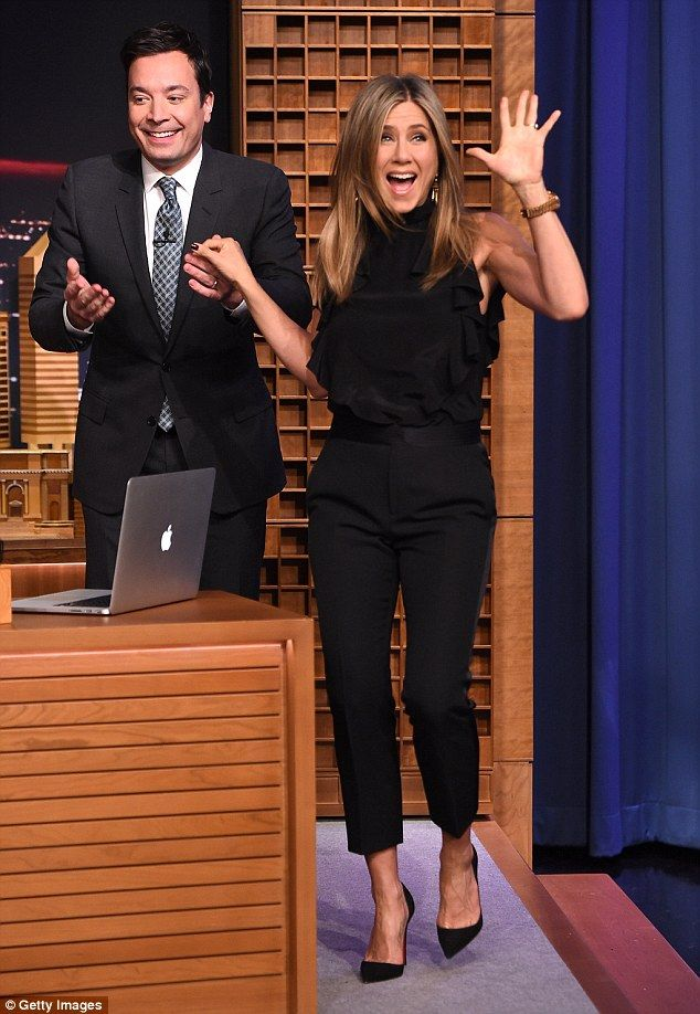 Special guest: Jennifer Aniston appeared on Wednesday night's episode of The Tonight Show Starring Jimmy Fallon