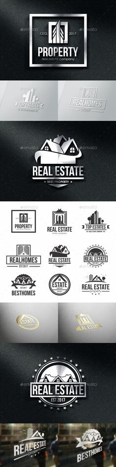 Property Real Estate Badges & Logos Template Vector EPS, AI Illustrator, Affinity Designer