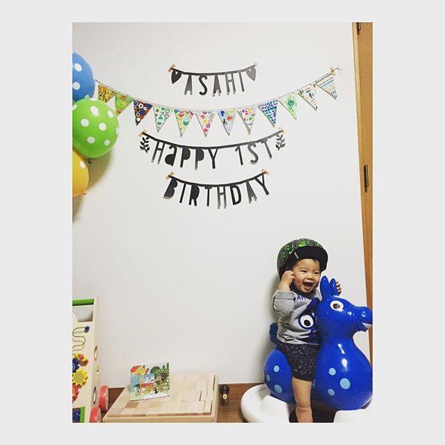 Instagram media eeeeeoniq - 2015.11.24  息子、無事に1歳を迎えました。  私を母にしてくれてありがとう。 元気に育ってくれてありがとう。  息子を、私を、見守り、支えてくれた全ての人にも感謝です。  HAPPY BIRTHDAY◡̈♥︎ #1歳 #ロディ #童具館