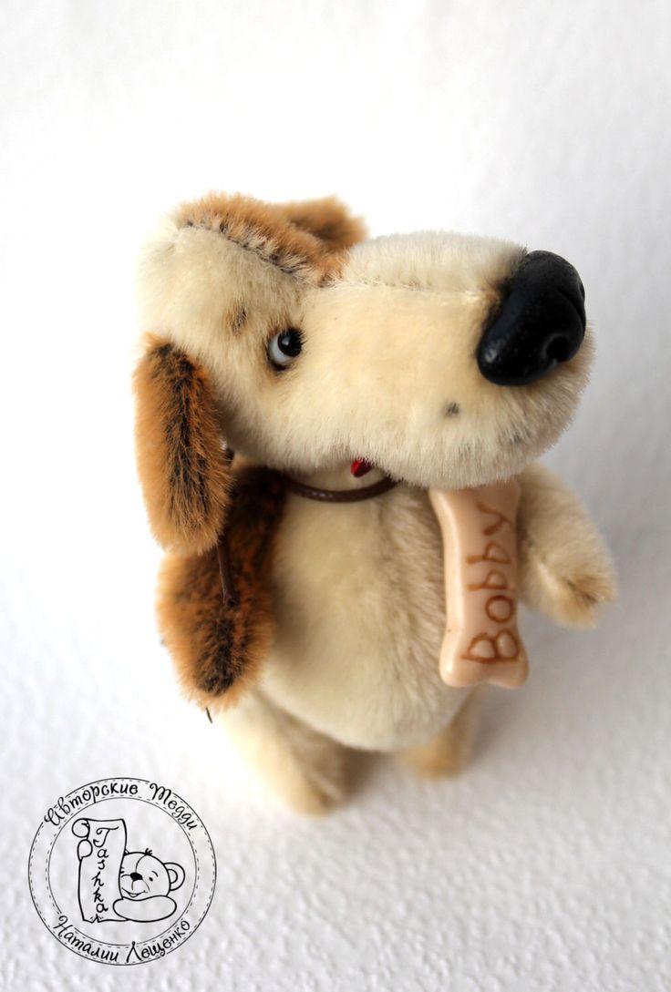 PDF Pattern - New! - Mini puppy Bobby - Artist Teddy Bear by TashkasBears on Etsy https://www.etsy.com/listing/245940963/pdf-pattern-new-mini-puppy-bobby-artist