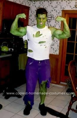 Homemade Incredible Hulk Costume: The initial idea for my Incredible Hulk costume came on a cold December night as a bunch of my friends and I were out for dinner and drinks. It's been