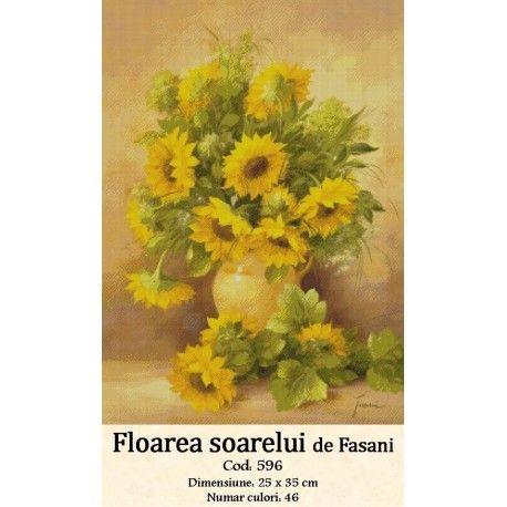 Model goblen Floarea Soarelui http://set-goblen.ro/flori/3574-floarea-soarelui.html