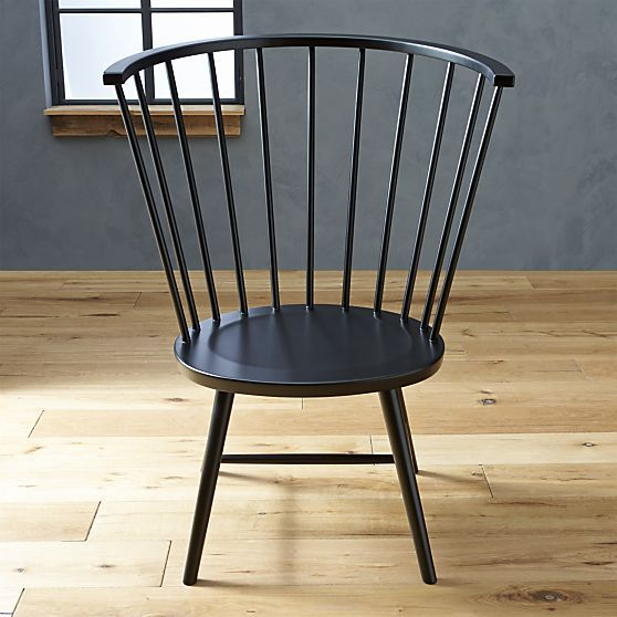 Riviera Black Tall Windsor Side Chair In All Paola Navone