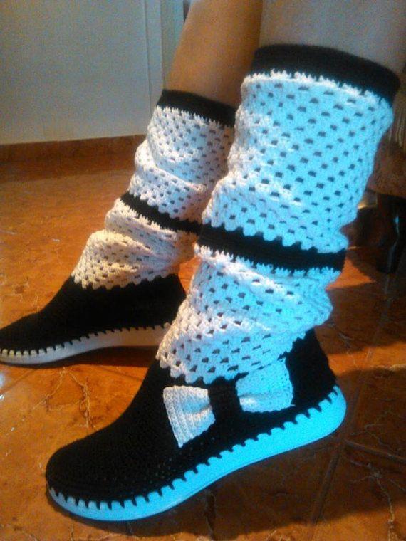 Crochet boots for summer by AlexandraShop on Etsy