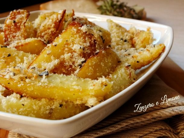 patate rosticciate al pecorino