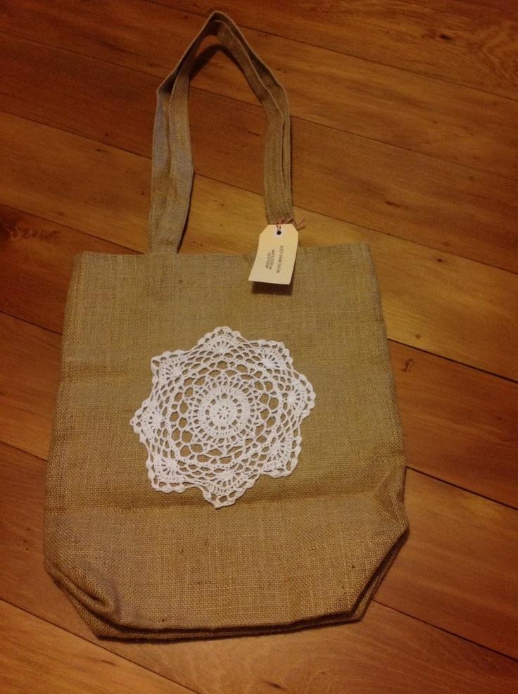 Gerty Brown lined market bag
