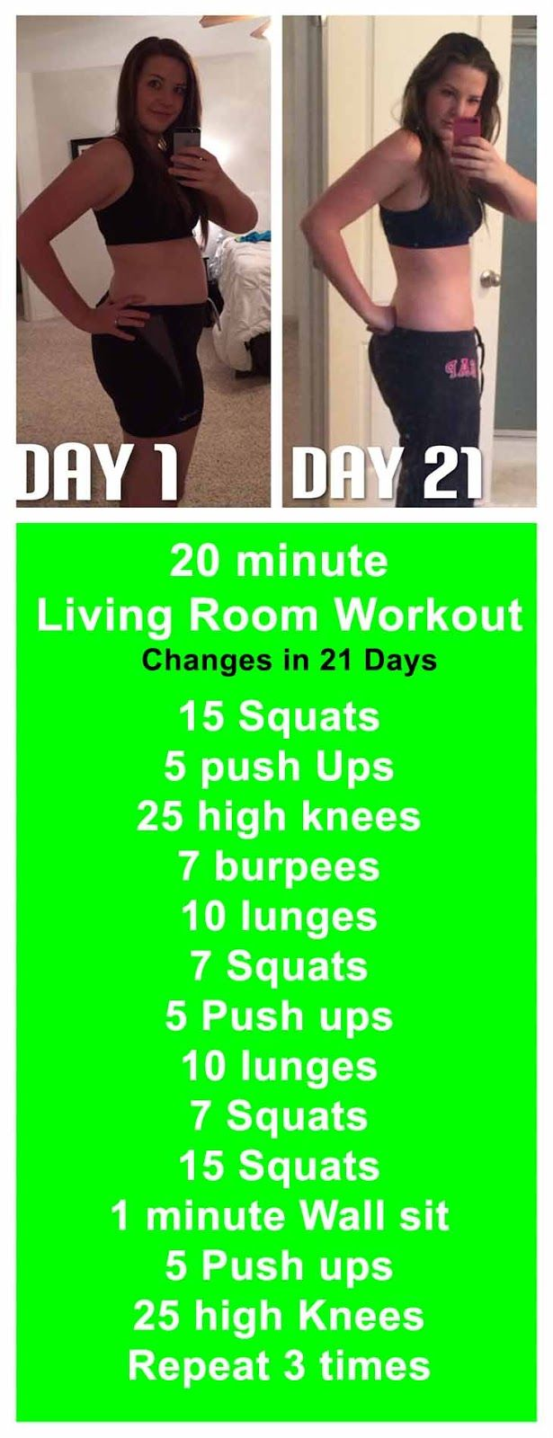 20 minute Living Room Workout and get Free Fat Loss Tips - 7 Free Fat Loss Tips That Work | 21 days | workout | fitness | fat loss | motivation | challenge | workout plan |