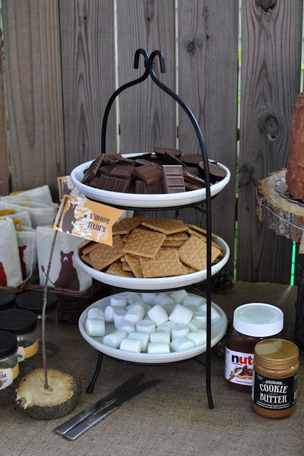 S'mores ~ super cute for a outdoor party!