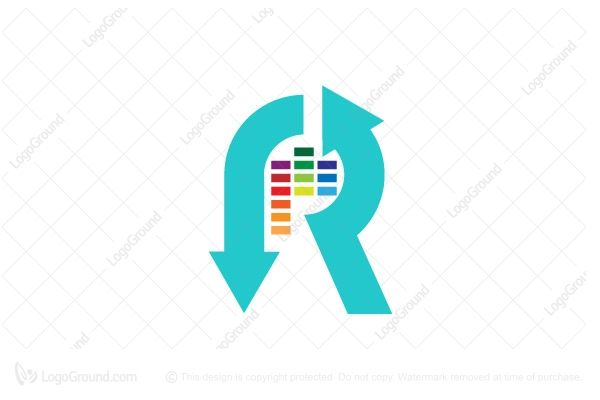 Logo for sale: Initial R For Music Industry Logo