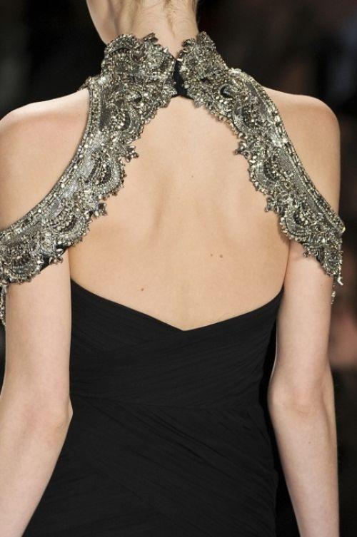 Beaded shoulder details