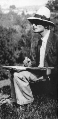 Erst mit vierzig Jahren hat Hermann Hesse mit dem Malen begonnen - sein Weg als bildender Künstler führte von der Therapie zur Leidenschaft.