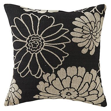 """Ok. Nothing special. 18"""" Modern Textured Flower Polyester Cover – USD $ 19.99"""