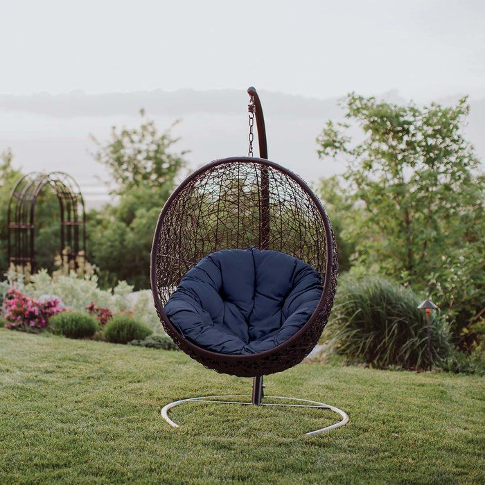 Herculaneum Encase Swing Chair With Stand Swinging Chair Patio Swing Chair Outdoor Patio Swing