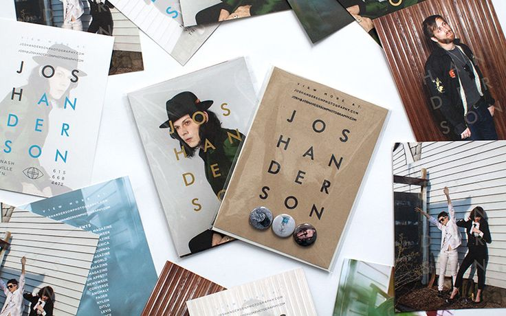 """Self promotion idea.  This is pretty cool - has some interactive elements - the little buttons (which no one throws away BTW), lettering that takes an extra second or two to read and lots of postcards with the same """"theme"""".  Nice."""