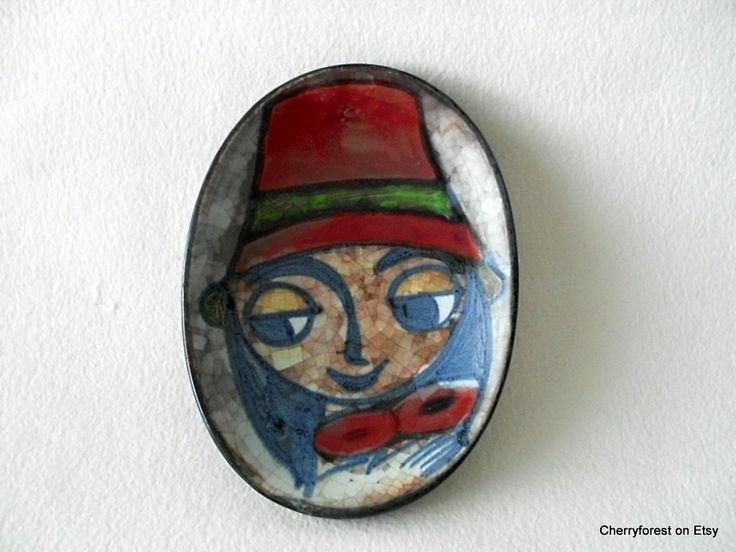 Wall hanging by Marianne Starck for Michael Andersen,Bornholm. Ceramic wall hanging in Persia glaze, woman with hat. by Cherryforest on Etsy