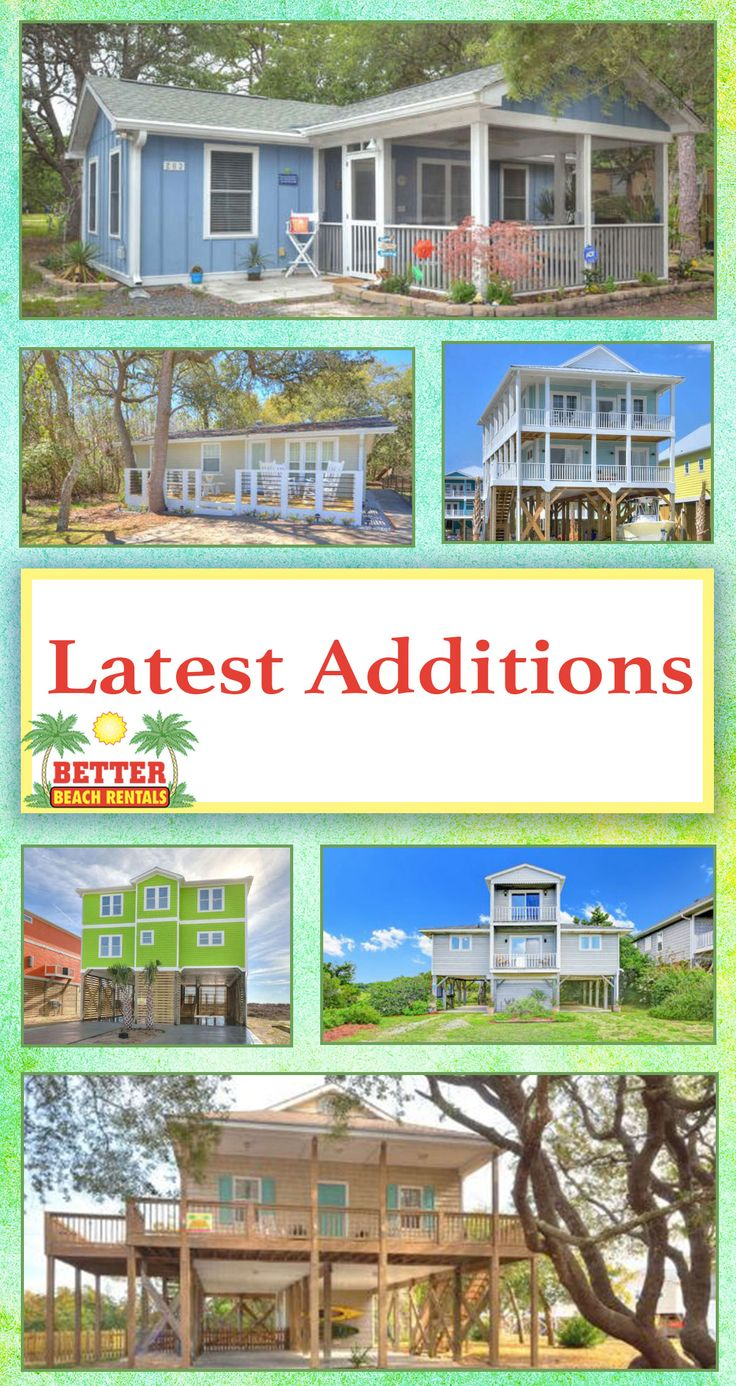 See what's new at Better Beach Rentals on Oak Island, NC! You are going to love our new properties!!