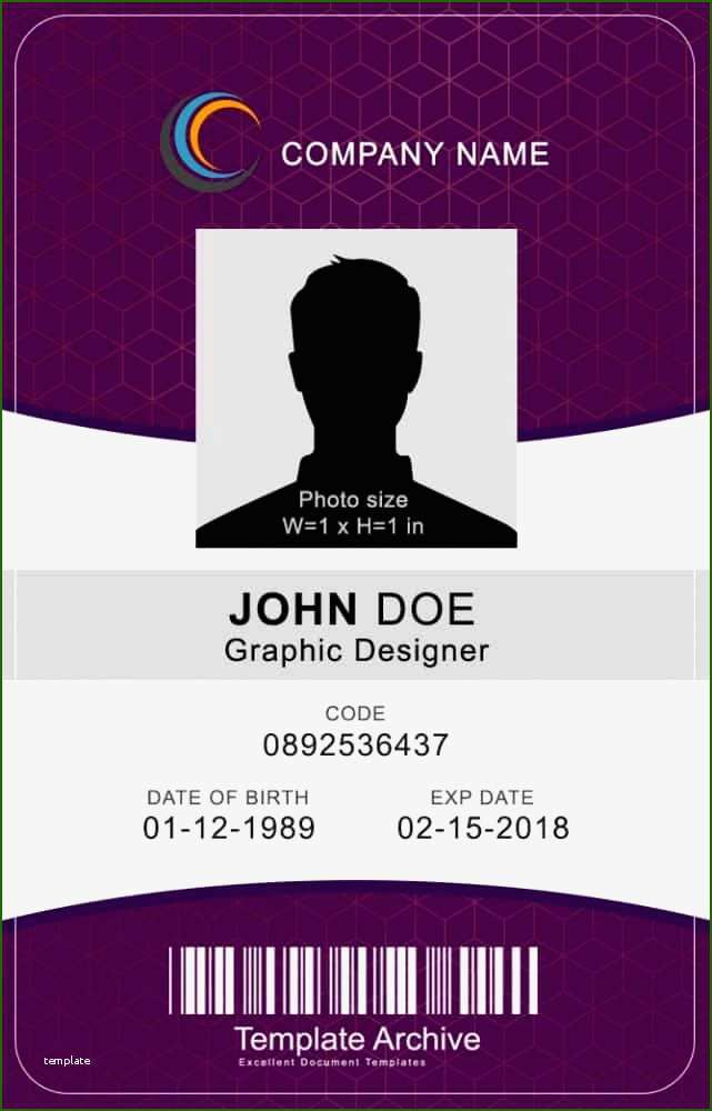 12 Impeccable Vertical Id Badge Template That Will Wow You Id Card Template Free Business Card Templates Card Templates Free