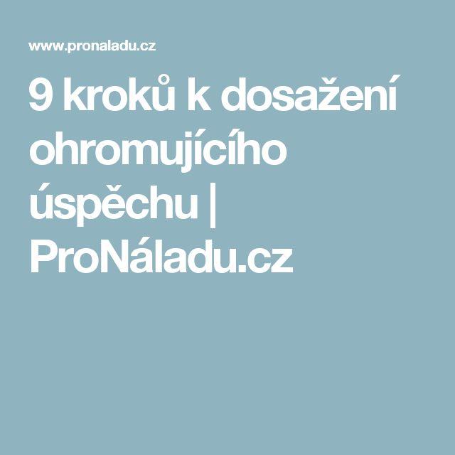 9 kroků k dosažení ohromujícího úspěchu | ProNáladu.cz
