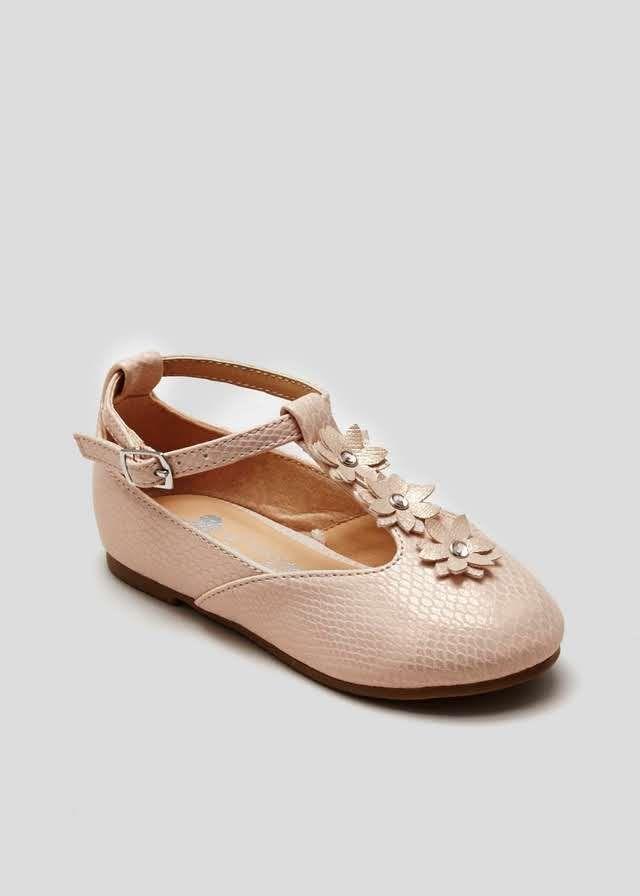 Girls Flower T Bar Ballet Shoes (Younger Kids 4-12) View 1