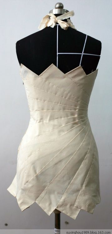 Draping works (pictures) - Su Xing thick - flying snake (I want to make this from ties.  I wish there was a front pic.)