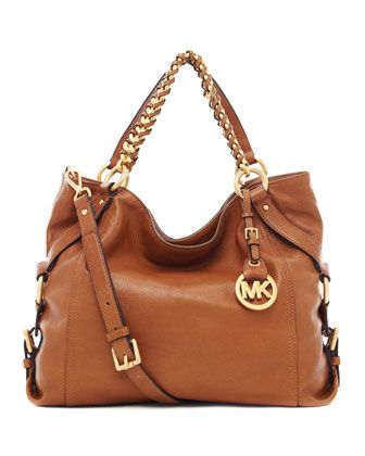 MICHAEL Michael Kors Tristan Large Shoulder Tote... I need a brown bag so bad!
