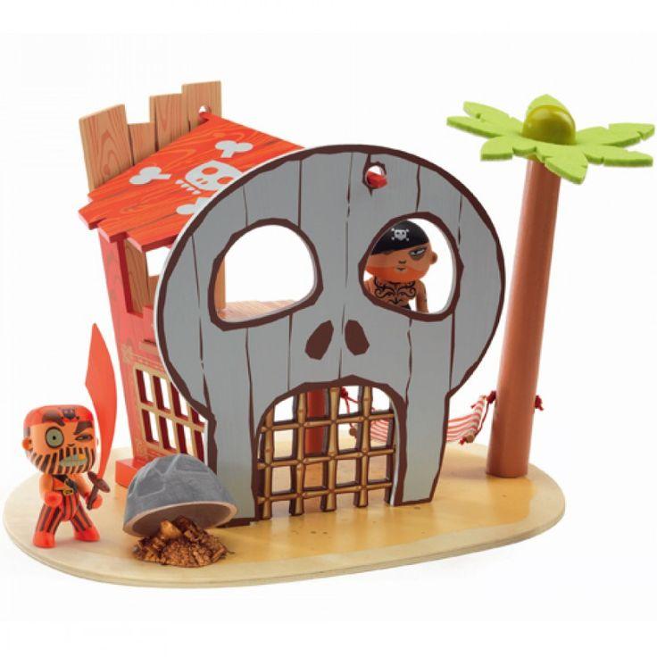 djeco arty toys - ze pirat island DJ06829 | ilovespeelgoed.nl
