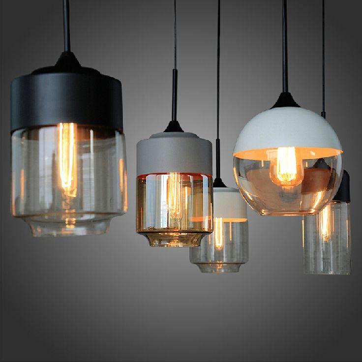 Amerikanische Industrielle Loft Vintage Pendelleuchten Fur Esszimmer Eisen Mit Bildern Glas Pendelleuchten Holzpendelleuchte Pendelleuchte