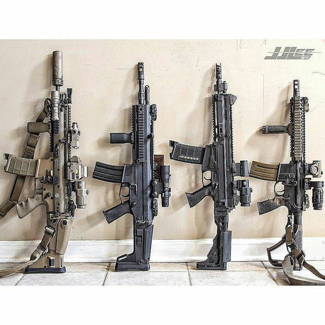 Left to right : @fnh_usa SCAR 16 - bushmaster ACR