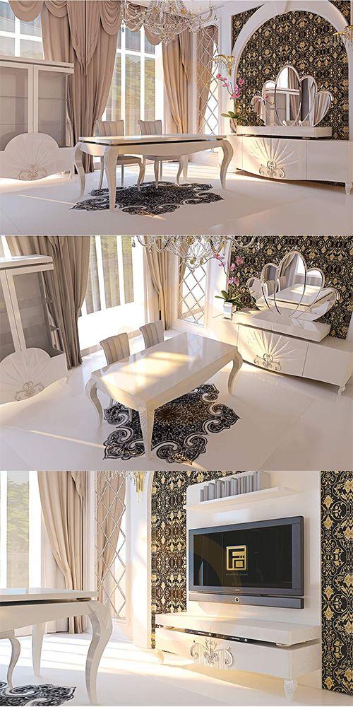 Özgün tasarımı ve modern dizaynı ile Valentin Yemek Odası Takımı Mobilyam Online farkı ile satışta!