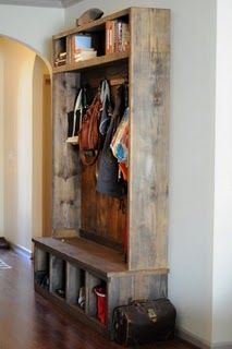 beautiful rustic coat rack - I know it won't fit nearly enough coats...I have a problem.