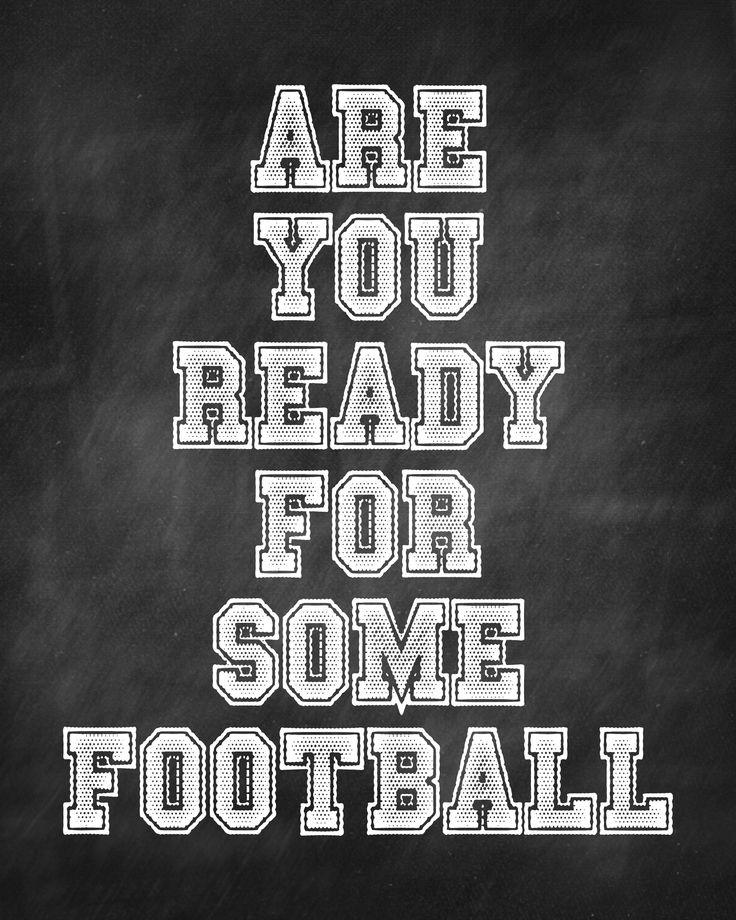 Yeeessssss Can't wait for football season!
