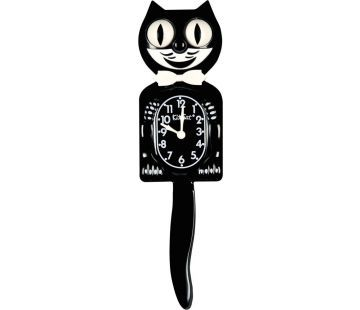 l'horloge Kit Cat clock, dont le sourire envoûtant rappelle le chat d'Alice au pays des merveilles,