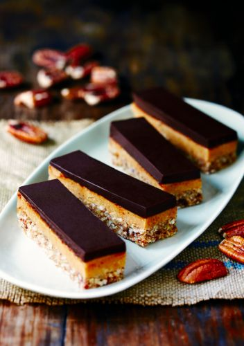 "Yummy ""caramel"" slice (paleo!) from Dr Libby's new 2013 cookbook The Real Food Kitchen"