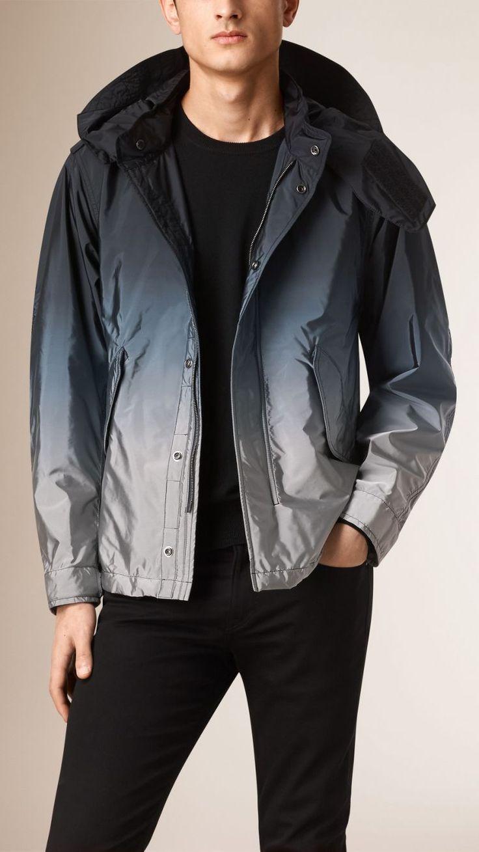 Dip Dye Technical Jacket with Detachable Hood