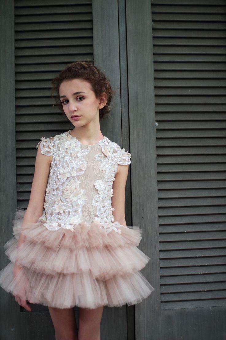 International model Angelina Porcelli Wearing Haute Couture Mischka Aoki for Harrods London