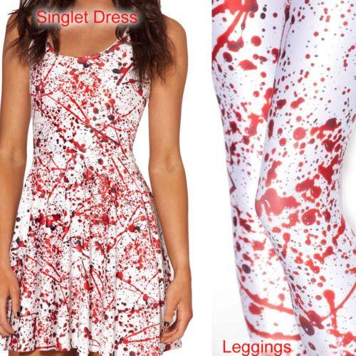 Digital-Print-Womens-Leggings-Dress-Tops-Skirt-Singlet-Bodycon-T-Shirt ...