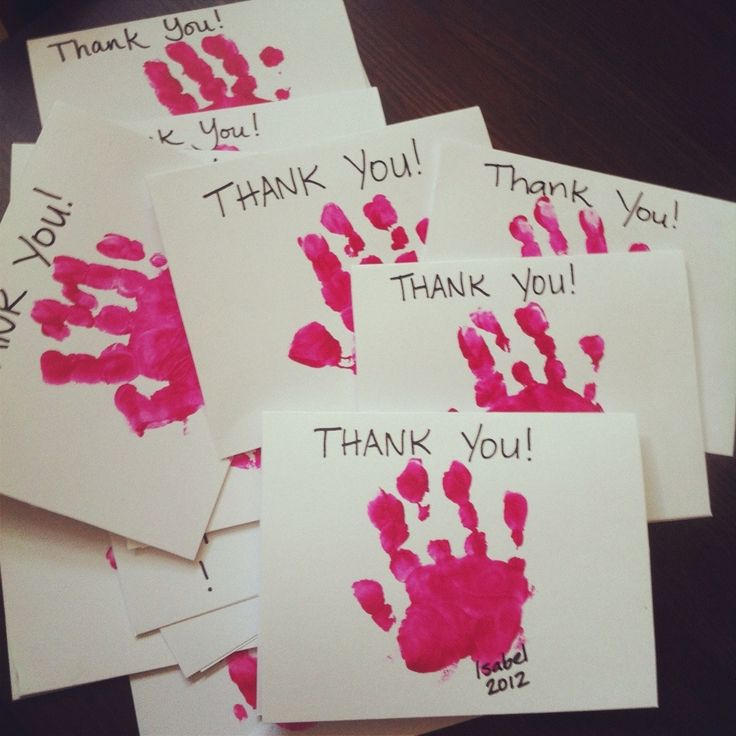Thank you cards for their parents? (Shows respect and other core values)