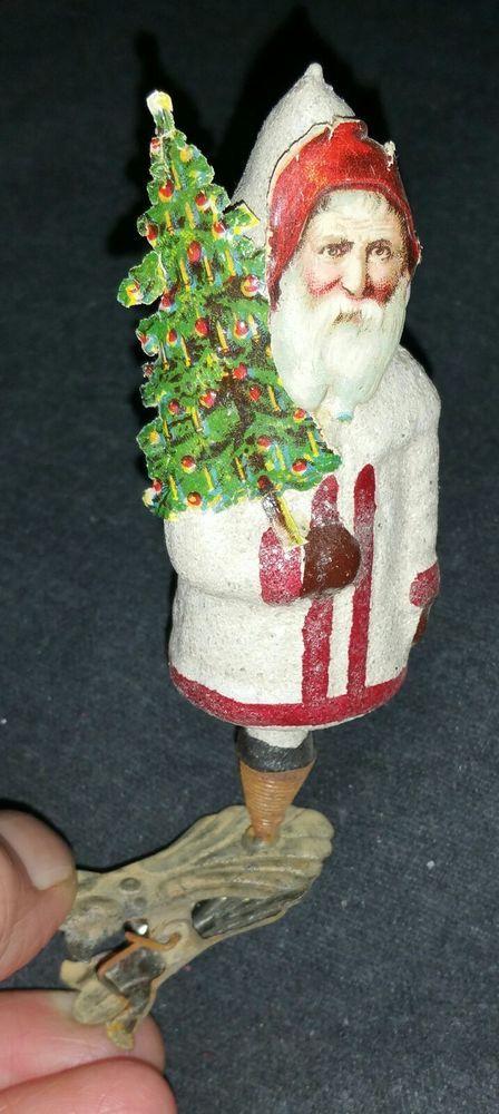 Details Zu Alter Weihnachtsmann Am Zwicker Glasfigur