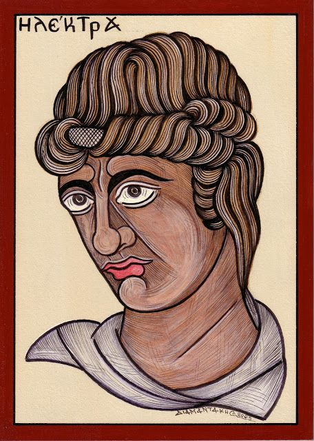 ΗΛΕΚΤΡΑ...Κόρη του Αγαμέμνονα και της Κλυταιμνήστρας, η Ηλέκτρα ανήκε στην καταραμένη οικογένεια των Ατρειδών.... Μετά το φόνο του πατέρα της από τη γυναίκα του και τον εραστή της Αίγισθο, έμεινε στην ιστορία ως η εκδικήτρια και τιμωρός του φόνου καθώς και η ηθική αυτουργός της μητροκτονίας που επακολούθησε...