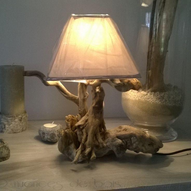 lampe de chevet en bois flott 50 nuances de bois les. Black Bedroom Furniture Sets. Home Design Ideas