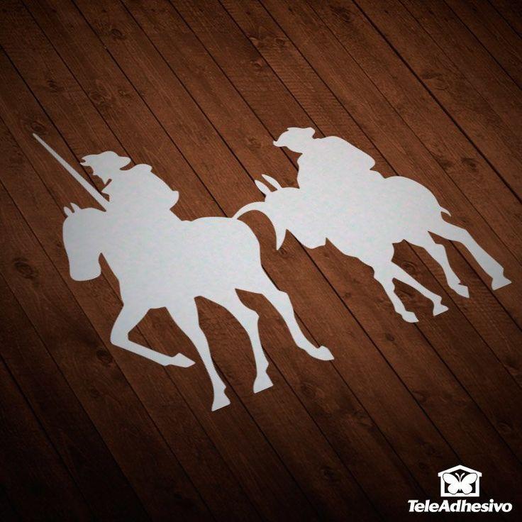 Pegatina Don Quijote y Sancho