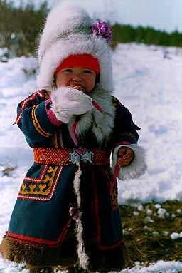 Little Nenets girl, Siberia